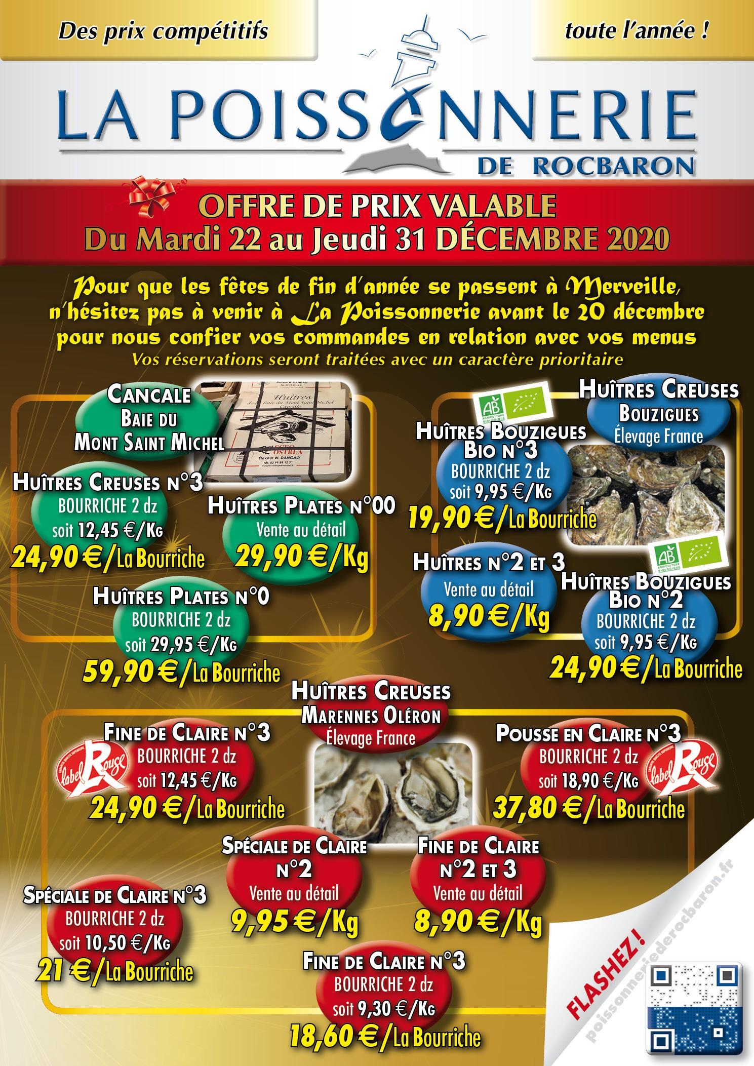 2020 Promotions de Noël La Poissonnerie de Rocbaron 1